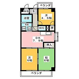 クレストハイツ岩塚[5階]の間取り