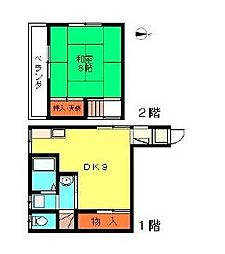 [一戸建] 埼玉県川口市西青木1丁目 の賃貸【/】の間取り