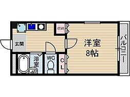 シャトーリベラル[3階]の間取り