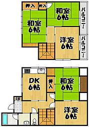 [一戸建] 兵庫県川西市笹部1丁目 の賃貸【/】の間取り