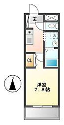 コートデリヴィエール上飯田[2階]の間取り