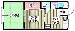 佐野マンション[208号室]の間取り