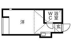 ネオステージ蒔田[1階]の間取り