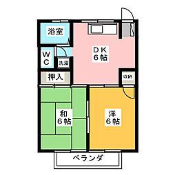 ひばりマンション[2階]の間取り