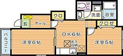 フォーリストメゾンII[1階]の間取り