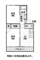 徳島県徳島市住吉5丁目の賃貸アパートの間取り