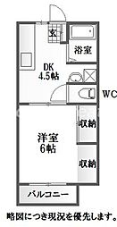徳島県徳島市庄町4丁目の賃貸アパートの間取り