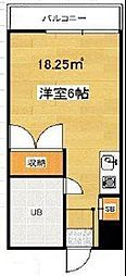 東京都世田谷区代田2丁目の賃貸アパートの間取り