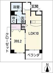 シャンクレール[2階]の間取り