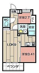 Studie TOBIHATA[1006号室]の間取り