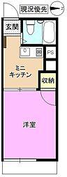 長野県長野市上松 1丁目の賃貸アパートの間取り