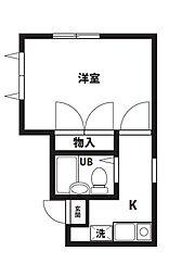 ALBA平塚[101号室]の間取り