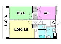 UTARA HOUSE[502号室]の間取り