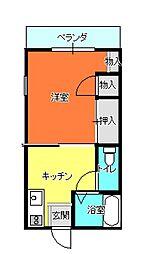 ハイツ愛2[1-7号室]の間取り
