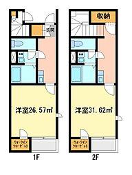 兵庫県加西市北条町北条本町の賃貸アパートの間取り