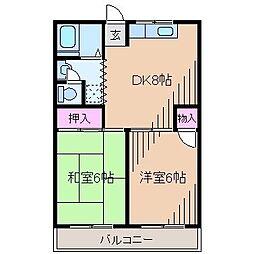 フォレスト大倉山[1階]の間取り