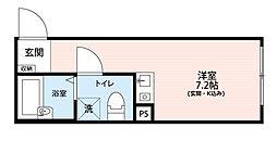 アイディ蒲田(id蒲田)[2階]の間取り