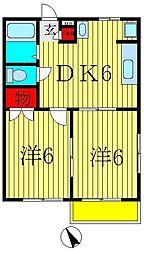 クリスタルガーデン[2階]の間取り