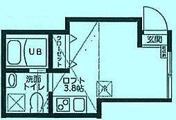 コートハウス溝の口B[1階]の間取り