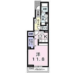 宮城県名取市増田7丁目の賃貸アパートの間取り