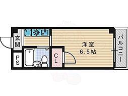 ハマンション氷室第2 2階1Kの間取り