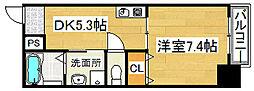 ロッソ北花田[11階]の間取り