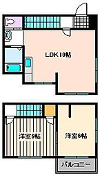 [一戸建] 東京都足立区青井3丁目 の賃貸【東京都 / 足立区】の間取り