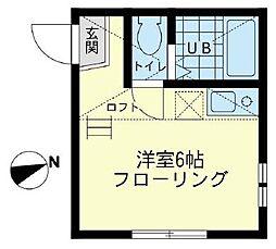 神奈川県横浜市磯子区広地町の賃貸アパートの間取り