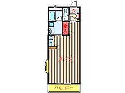 千葉県船橋市咲が丘1丁目の賃貸マンションの間取り