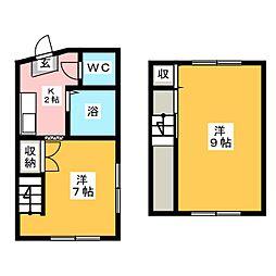 小川マンション[4階]の間取り