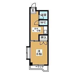 イトウマンション植田[2階]の間取り