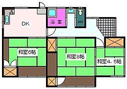 [一戸建] 静岡県富士市鈴川中町 の賃貸【/】の間取り