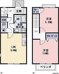[タウンハウス] 愛知県豊田市上挙母2丁目 の賃貸【/】の間取り