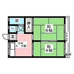藤鹿荘[2階]の間取り