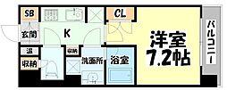 JR仙石線 榴ヶ岡駅 徒歩3分の賃貸マンション 5階1Kの間取り