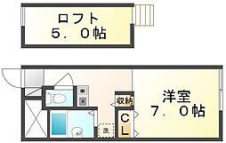 香川県高松市牟礼町牟礼の賃貸アパートの間取り
