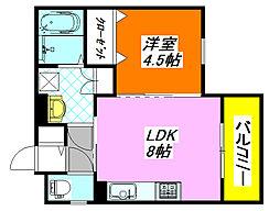 クリエオーレ・三ノ瀬II 201号室[2階]の間取り