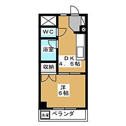 メゾン純[4階]の間取り