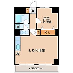 ロイヤルヒルズ高松[2階]の間取り