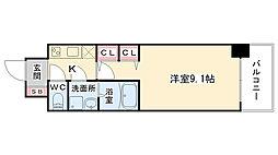 大阪府大阪市中央区平野町2丁目の賃貸マンションの間取り