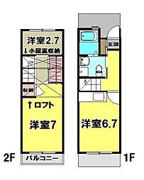 [テラスハウス] 東京都青梅市野上町3丁目 の賃貸【/】の間取り