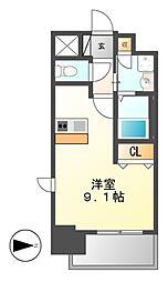 プレサンス名古屋STATIONビーフレックス[3階]の間取り