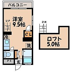 さくらハウス 1階1Kの間取り