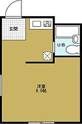 ハイツ番屋[3階]の間取り