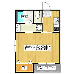 京OHBUIII[1階]の間取り