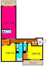 ひさごの杜[2階]の間取り