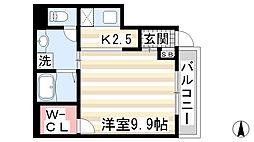 兵庫県神戸市兵庫区平野町字天王谷奥東服の賃貸マンションの間取り