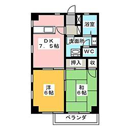 クリーンハイツ西[2階]の間取り