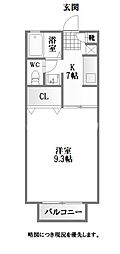 徳島県徳島市下助任町2丁目の賃貸アパートの間取り