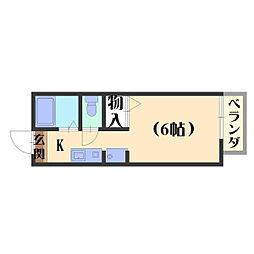 ハイツKOUNAN[108号室]の間取り